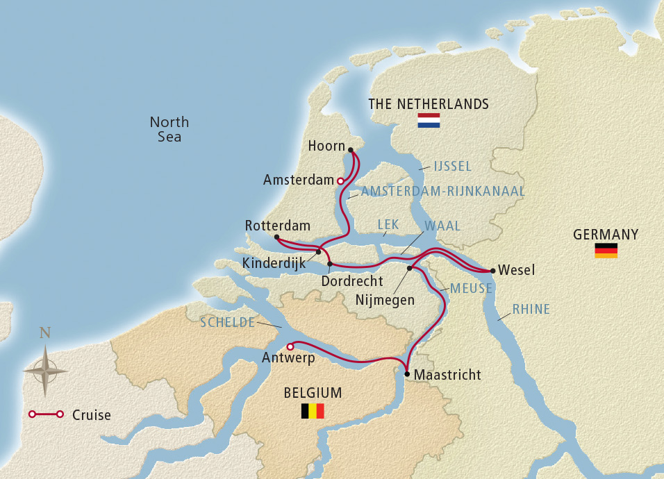 Map Of Germany And Holland.Holland Belgium 2020 Amsterdam Antwerp River Cruise Viking