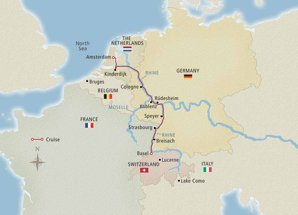 Map Of Germany And Amsterdam.Rhine Getaway 2020 Basel To Amsterdam Cruise Overview
