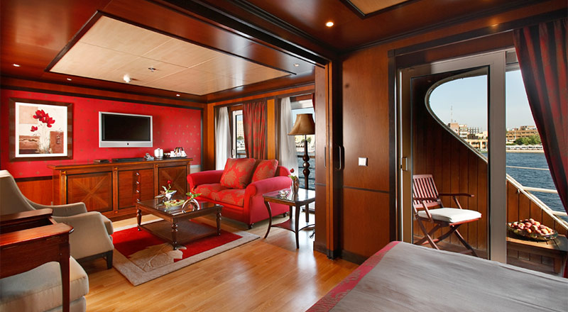 Veranda Suite seating area on MS Antares