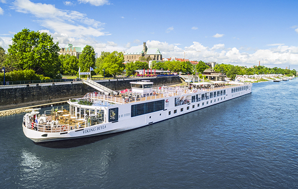 Viking Beyla docked in Magdeburg
