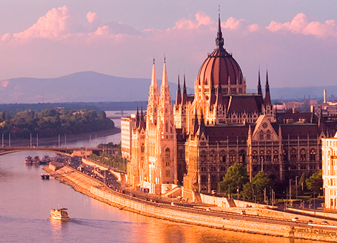 Danube River Cruises: View of Budapest Parliament