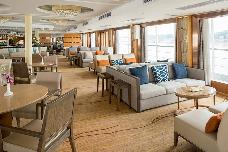 Observation Lounge view on board Viking Emerald