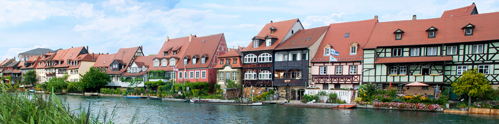 Houses lining canal in Germany
