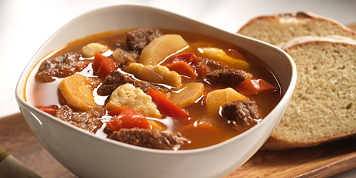 A bowl of Hungarian Goulash