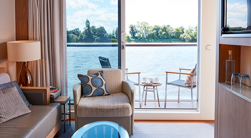 Veranda Suite view on Viking Longship
