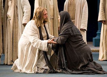 Scene from Oberammergau, The Passion Play