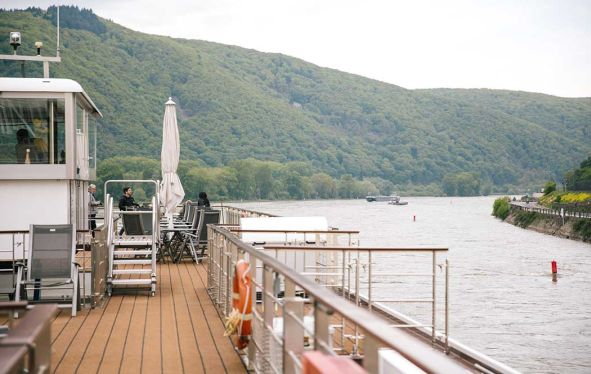Sun deck of Viking river vessel