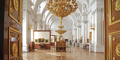 Gallery of the Winter Palace in St. Petersburg