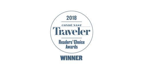 Conde Nast Traveler Readers Choice Award Winner 2018 logo