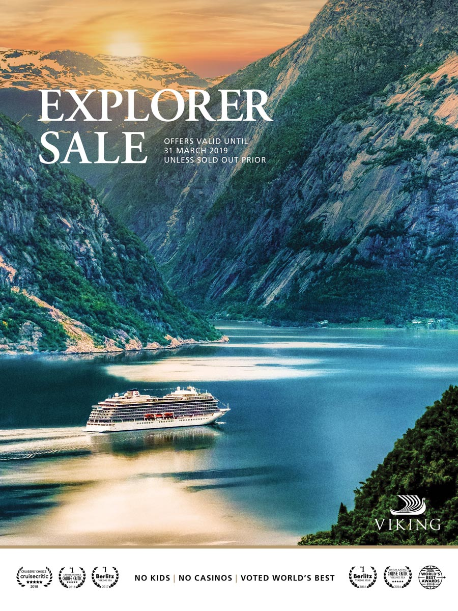 Photo of Viking Cruises Brochure with big texts - Explorer Sale
